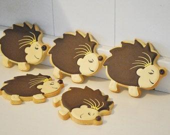 Hedgehog Hand Decorated Sugar Cookies - 1 Dozen