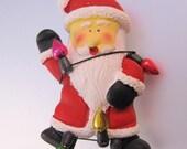 Vintage Santa Claus Christmas Brooch Pin Novelty Jewelry Jewellery