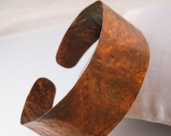 15% OFF SALE Vintage Hand Made Hand Hammered Copper Cuff Bracelet Primitive Tribal Jewelry Jewellery
