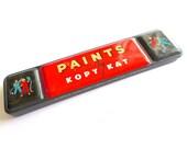 Vintage Child's Paint Tin, Vintage Watercolor Paint Box, Paints by Kopy Kat, Colorful Paint Box, Playroom Decor, Art Studio Decor