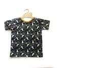 Grey Shark Organic cotton baby t-shirt, baby tee, baby clothes, toddler t-shirt