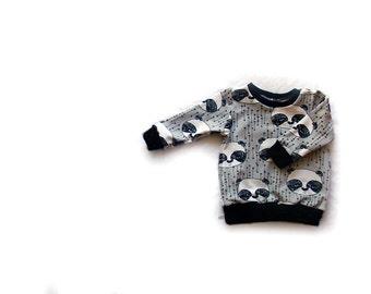 Pandas Sweatshirt, toddler sweater, baby clothes