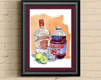 Vodka Cranberry Still Life Print