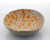 Serving bowl handmade pottery  decorative ceramic bowl unique bowl