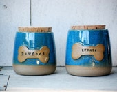 Treat Jar,ceramic pet treat canister,  pet gift - Ready to ship