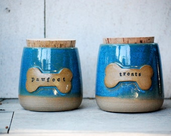 Treat Jar,ceramic pet treat canister, pet gift