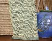 Herringbone Hand Towel - Yellow Woven Towel - Classic Blue and Yellow Handwoven Kitchen Towel