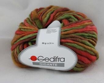 100% Schurwolle New Wool 50 g Gigante Gedifra Fb. 2343
