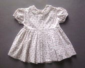 Vintage Baby Dress Handmade Cotton Floral 12 Months Girls Summer Dress 1950
