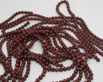 Red Sesame Jasper Beads 8mm total of 14 strands