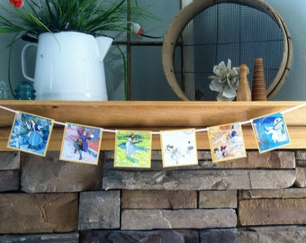 nursery rhyme bunting from a vintage children's board book