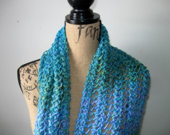 Heather's Knitted Scarf Pattern, Instant Download,  PDF Download, Gorgeous Scarf when Completed