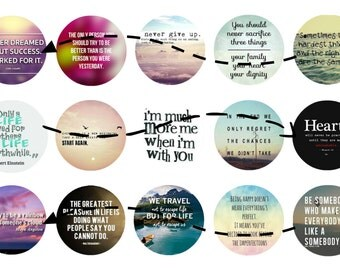 Inspirational Quotes 1 inch circles