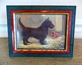 Scottish Terrier, Terrier, Dog Picture, Home Decor, Picture, Table Top, Artwork, Vintage, Dog, Decor, Scottie Dog, Vintage Scottish Terrier
