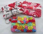 Zippy Wallet Pouch Key Valentine Hearts Kisses Love Card holder -