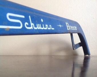 Blue Metal Vintage Schwinn Breeze Chain Guard. Bike Restoration or Cycle Decor.