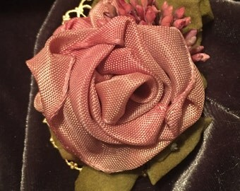 Hand Designed Floral Brooch, MontanaRosePainter, Unique, One of a Kind, Variety of material Used, Great gifts