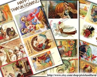 Thanksgiving Vintage Printable Digital Download