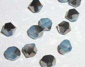 Clearance -- 4mm Swarovski crystal beads BICONE style 5301 Crystal Beads White Opal Sky Blue -- 24 pieces
