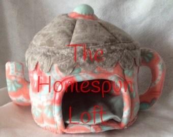 Fleece Teapot Hedgehog Guinea Pig Hide Home Custom Order Item Made to Order