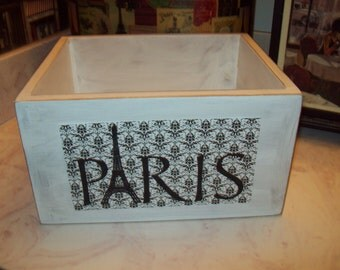 Paris Storage box,Eiffel Tower decor,Paris decor,French decor,French bedroom decor,Paris bedroom decor