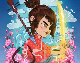 Kubo and the Two Strings A4 Print