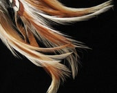 Vintage Feather and Bead Hair Ornament. Stunning.