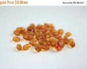 SALE SALE SALE Vintage Glass Beads Amber Destash Lot 45 Pieces Crafting Supplies Jewelry