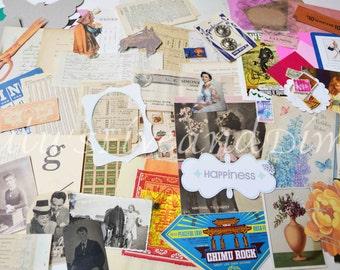Vintage Paper Lover's Dream! Vintage Photo and Paper Scrap Pack