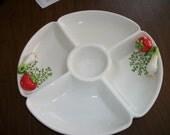"Dennis East  Platter ~Chip and dip plate  14"" Ceramic"