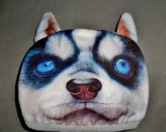 Surgical Half Face Mask 3D Dog Face Blue Eye Medical Reusable