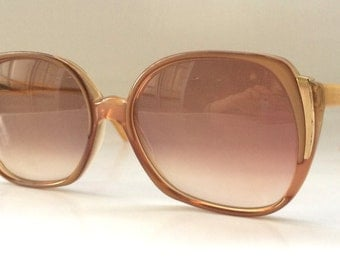 70s Vintage German Rodenstock 'Exclusiv' Coral Peach Ladies Womens Sunglasses