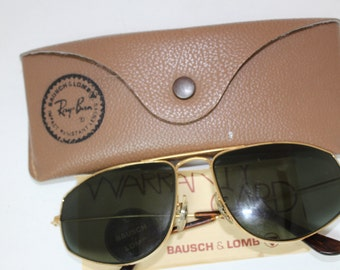 Vintage Ray Ban Sunglasses B&L /USA with case/  rh425