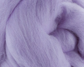 18 Micron Wool Roving - 50 grams (1.75 oz) - Lavender