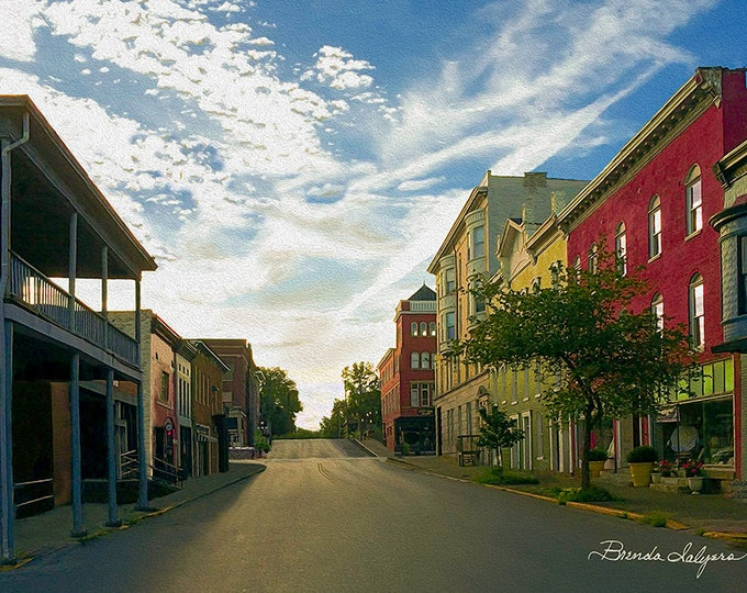 Kentucky, West Lexington Ave. Winchester, Fine Art Print on Paper or Canvas