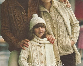 Family jackets knitting pattern. Instant PDF download!