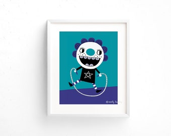 Jump Rope - Giclee of an original illustration (8 x 10in)