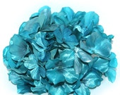 Large Metallic Turquoise Hydrangea Bunch - Full Head - Artificial Flowers, Blossoms, Silk Flowers - PRE-ORDER