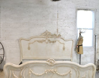 Painted Cottage Shabby French Romantic Bed Queen / King  Lotlettte-Tea