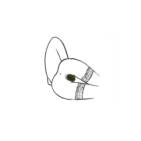 minimalist ink drawing print: Coffee II
