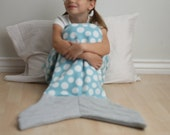 Mermaid Tail Shark Tail Fish Tail Whale Tail Blanket Cocoon Wrap - TAILS from the SEA Sewing Pattern PDF