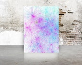 Garden Party Tie Dye inspired Abstract Generative Art TieDyeTall_9j, by San Francisco artist Kristin Henry Limited Edition 8x10 Giclee print
