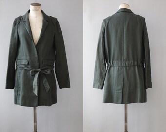 Chloé trench coat | Kakhi linen long jacket | 1990's by cubevintage | medium