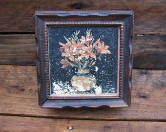 Vintage Wooden Mirrored Trinket Box - Hinged Lid - Jewelry Keeper - Jewel Box - Storage - Vanity - Decorative Box -