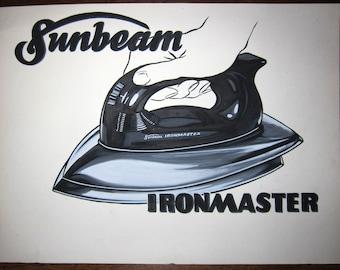 original SUNBEAM IRONMASTER iron paste up illustration