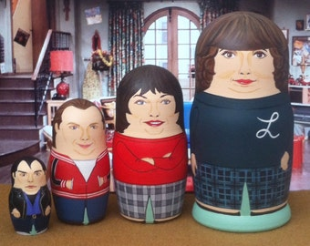 Laverne and Shirley Matryoshka Dolls