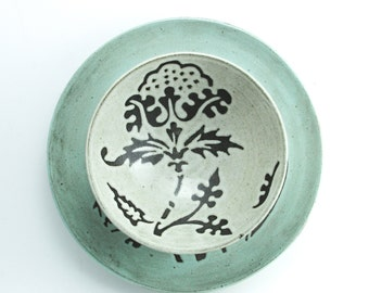 Soup Bowl, Design: Flora-1, Made to order, choose color