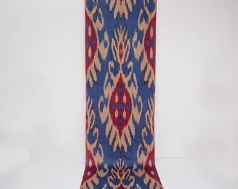 Cotton ikat fabric by the yards, blue, red, peach, 100% soft cotton ikat, ikats, ikat fabric,
