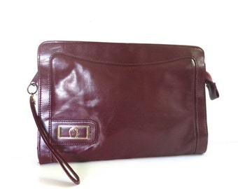 Vintage Oxblood Red Clutch
