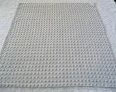 "Bates Mist Gray / Grey Pops Vintage Chenille Bedspread Fabric 22.5"" x 27"""